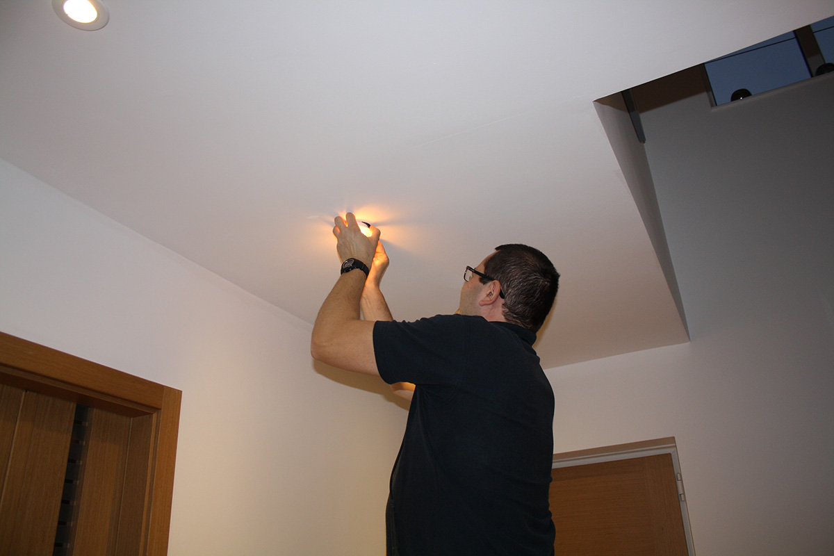 Installation Of LED Spotlights
