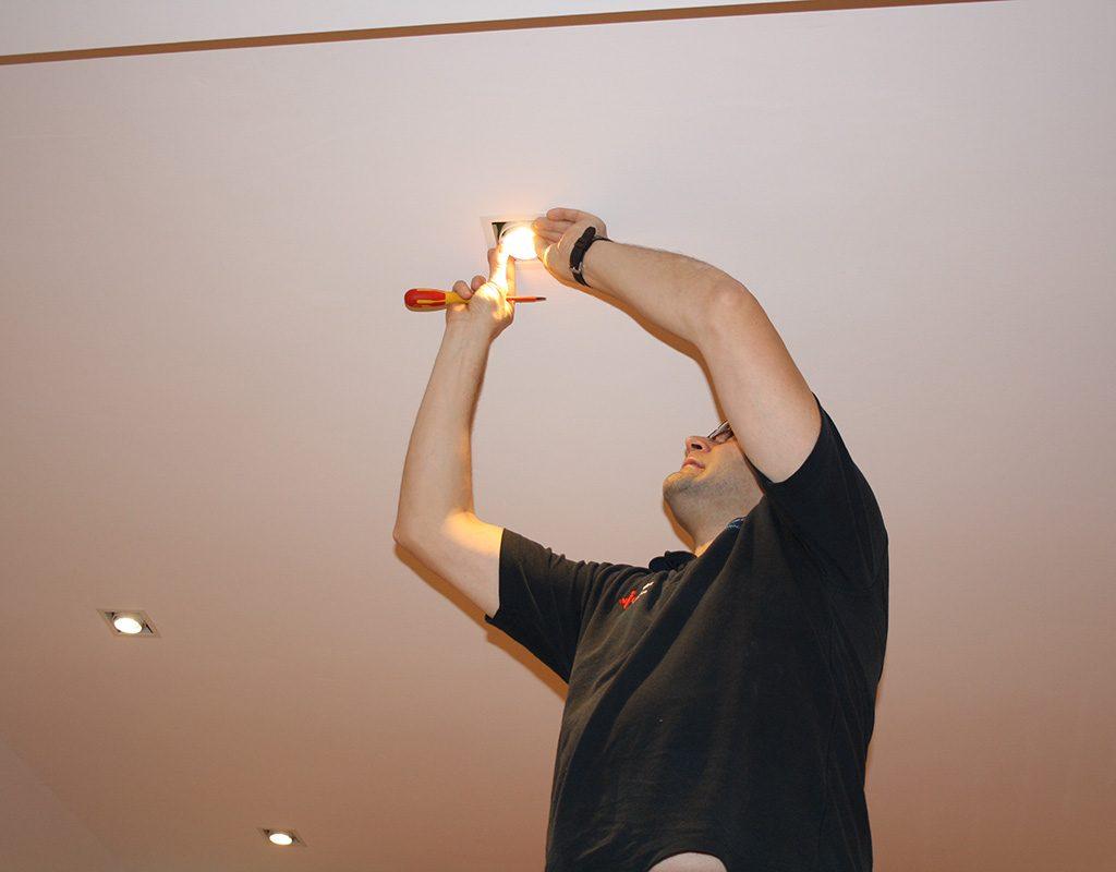 Installation Of LED Spotlights
